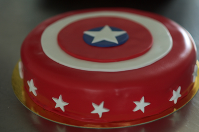Tarta Capitán América