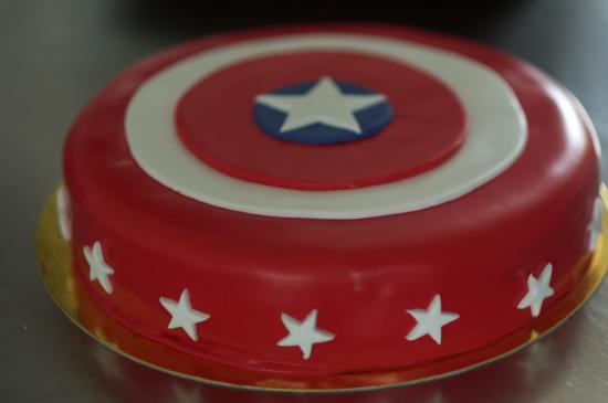 Tarta Capitan america