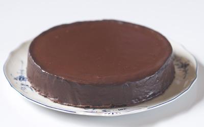 Pastel de chocolate y almendras sin gluten