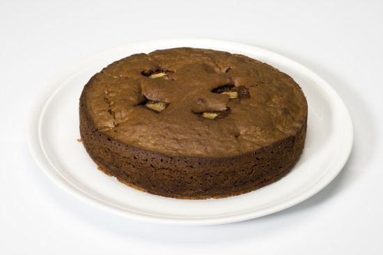 tarta chocolate pera