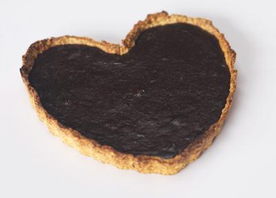 Tarta corazón de San Valentín de Chocolate