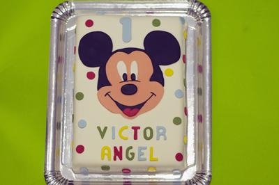 Tarta Mickey lunares