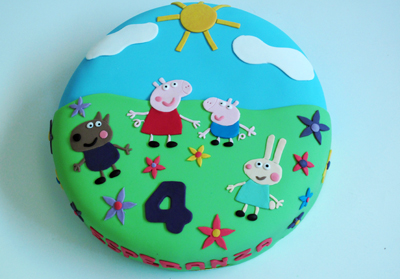 Tarta Peppa pig y amigos